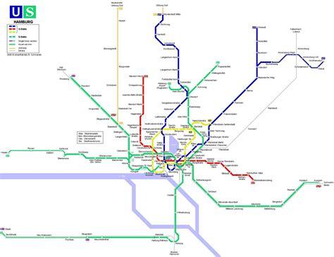 hamburg subway map subways pinterest