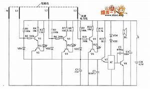 Agricultural Irrigation Line Burglar Alarm Circuit Diagram 1 - Control Circuit