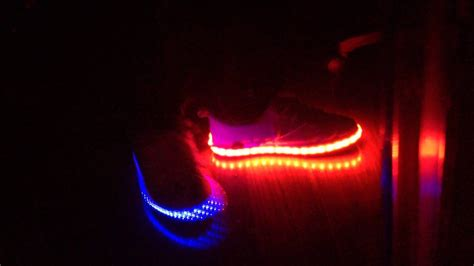 Testing Out My Homemade Rgb Led Shoes
