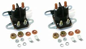 2  Starter Solenoid For Cub Cadet Troy