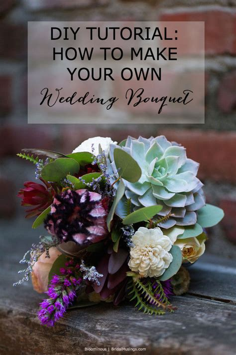 diy tutorial how to make your own bohemian wedding bouquet