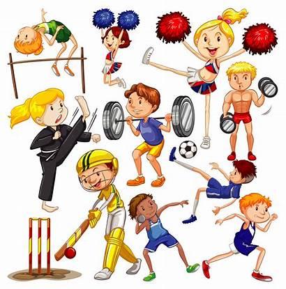 Sports Different Doing Persone Diversi Praticano Many