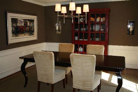 Dining Room  Benjamin Moore Whitall Brown
