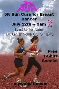 Create Business Flyer 5k Run For Breast Cancer Template Postermywall