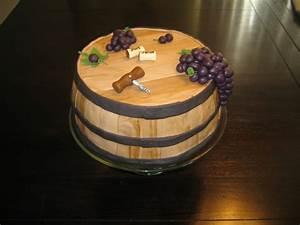 Wine Barrel Cake - CakeCentral com