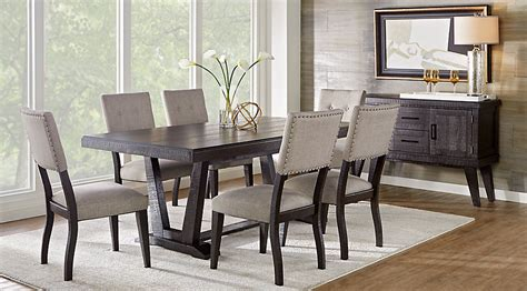 miraculous hill creek black  pc rectangle dining room