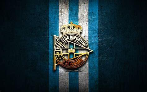 Download wallpapers Deportivo La Coruna FC, golden logo ...