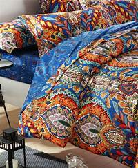 interesting bohemian duver cover Egyptian cotton blue paisley satin luxury hotel bedding ...