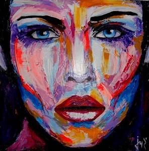 Peinture Visage Femme : visage femme acrylique sur toile technique couteau portraits visages femmes pinterest ~ Melissatoandfro.com Idées de Décoration
