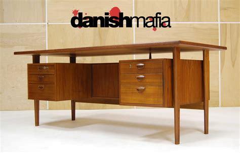 mid century office desk huge mid century danish modern teak kai kristiansen office