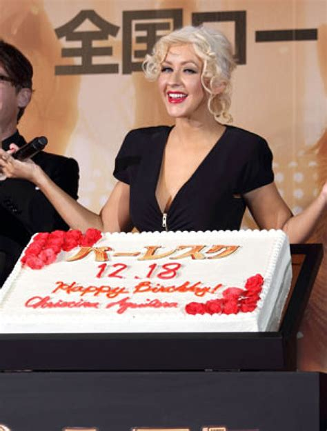 Celebrity Birthday Cakes  Christina Aguilera's Birthday