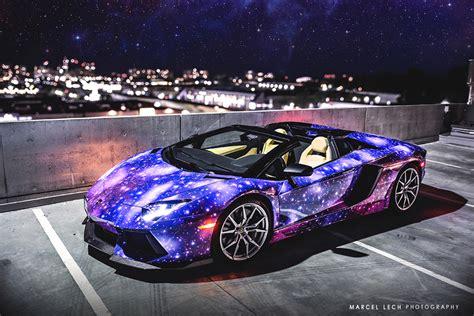 galaxy car paint lamborghini aventador roadster galaxy wrap hq classy bro