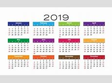 2019 Calendar Template Free Stock Photo Public Domain