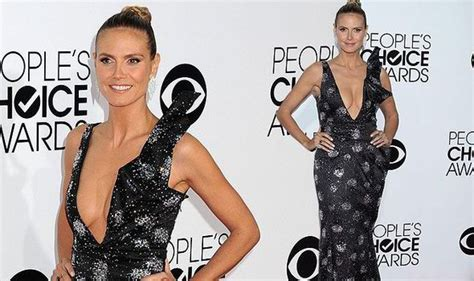 Heidi Klum Flashes The Flesh Shows Off Some Serious