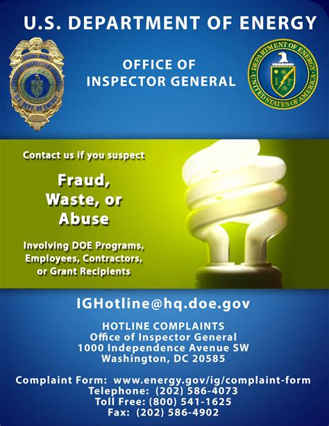 report fraud waste  abuse office  general