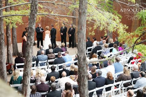 real fall wedding at the fort worth water gardens the