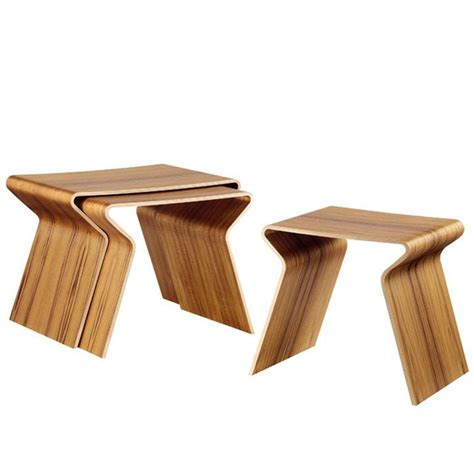 Molded Plywood Chairs and Tables by Lange Production