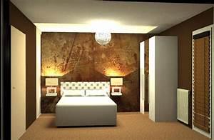 Papier Peint Chambre À Coucher : papier peint pour chambre coucher blog hexoa ~ Nature-et-papiers.com Idées de Décoration
