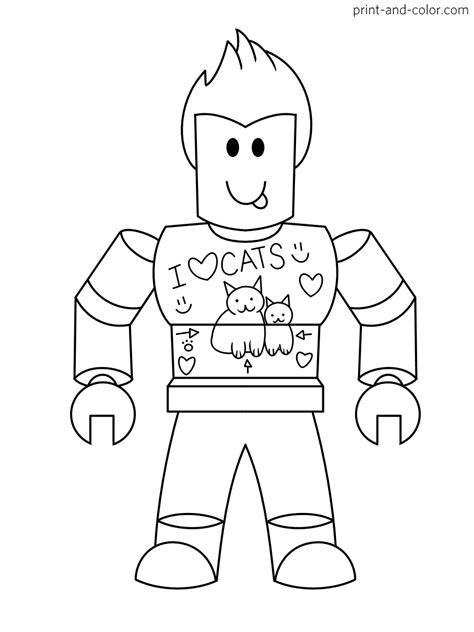 Coole Roblox Kleurplaat by Roblox Coloring Pages Print And Color