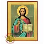Neoclassical Wooden Pantokrator Christ Icon Icons Nioras