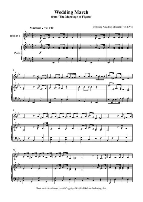 mozart sheet music from the film amadeus 8notes com