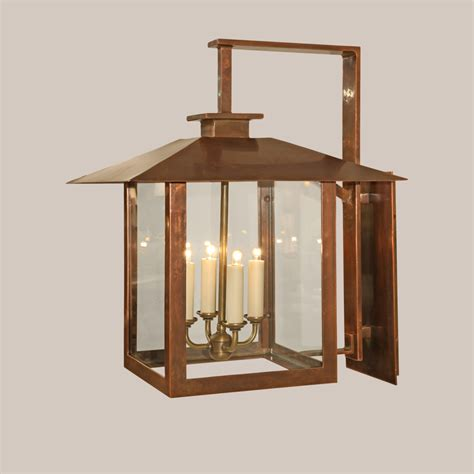 hanging cabinets in kitchen 4135 sc square copper coventry bracketed lantern paul 4135
