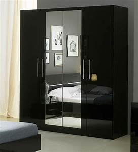 Armoire 4 Portes Gloria Noir