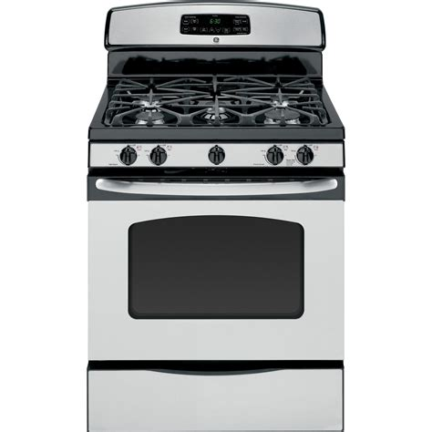 ge appliances jgb282setss 5 0 cu ft freestanding gas range stainless steel sears outlet
