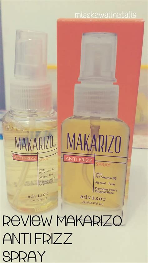 Harga Makarizo Frizz all about review review makarizo anti frizz spray