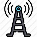 Icon Tower Signal Card Radio Frequency Icons