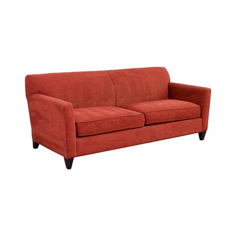 crate and barrel sofas and loveseats 56 off crate barrel crate barrel cardinal red