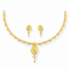 gold earrings design with weight gold flower single row necklace set