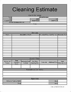 commercial cleaning quote template - 5 best images of printable cleaning estimate templates