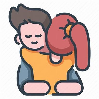 Hug Icon Relationship Together Male Happy Valentine