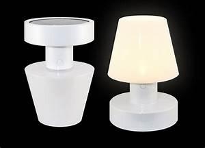 Lampe Sans Fil Deco : lampe solaire sans fil h 20 cm blanc bloom ~ Teatrodelosmanantiales.com Idées de Décoration