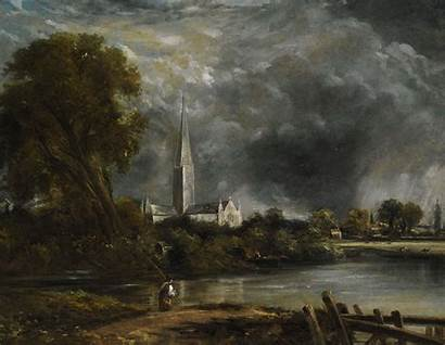 Constable Salisbury John Cathedral Meadows Paintings Painting