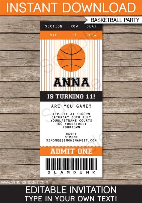 dinner ticket template word diy basketball ticket invitation template black orange