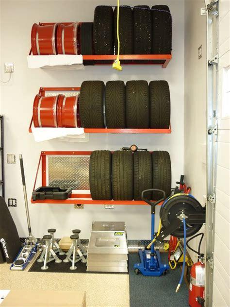 Shop Storage Shelves by Neat Tire Storage Cool Automotive
