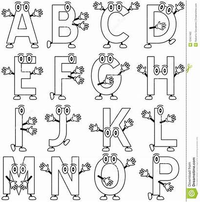Alphabet Coloring Cartoon Alfabet Het Fumetto Alfabeto