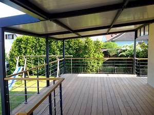 balcon et terrasse metal concept escalier ferronnerie With terrasse sur pilotis metal