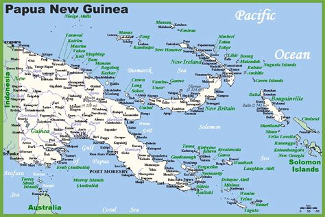 map  papua  guinea  surrounding countries
