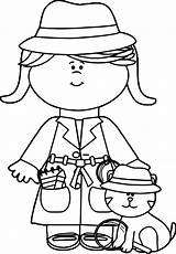 Coloring Detective Cat Spy Boy Theme Clip Bible Vbs Wecoloringpage Nice sketch template