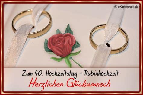 Glückwünsche zur rubinhochzeit sollten immer individuell auf das ehepaar abgestimmt sein. Zum 40. Hochzeitstag = Rubinhochzeit Herzlichen Glückwunsch | Hochzeitstag, Glückwünsche ...