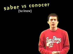 Conocer Verb Chart 02 Spanish Lesson Present Saber Vs Conocer Youtube