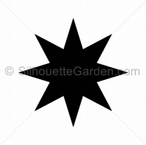 Eight Point Star Silhouette