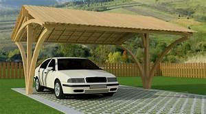 Garage Voiture En Bois : abris de voiture ~ Dallasstarsshop.com Idées de Décoration