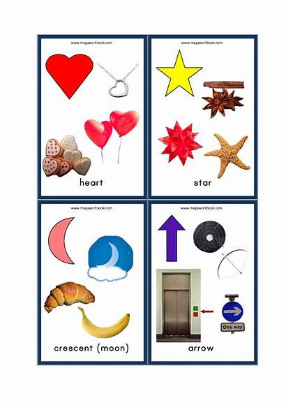 Shapes Objects Examples Flashcards Flash Megaworkbook Cards