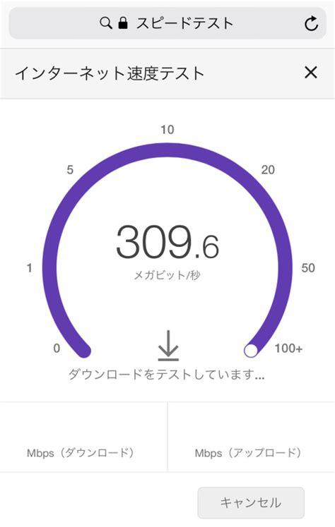 ネット スピード テスト
