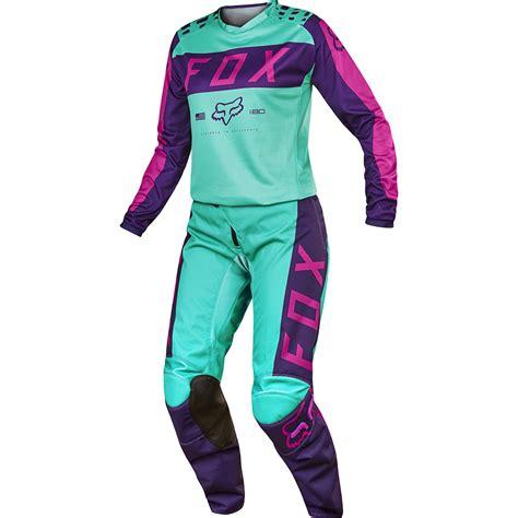 motocross gear for girls fox 2017 mx new 180 purple pink seafoam jersey pants