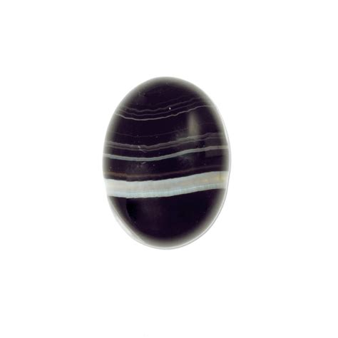 black banded agate cabochon xmm  pc